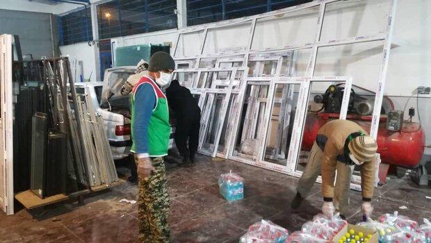 ضدعفونی محلات الشتر/ تأمین ماسک و توزیع بسته غذایی بین نیازمندان
