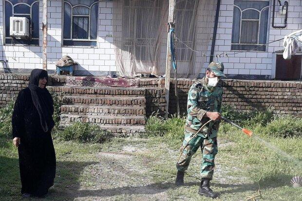جهاد لشکر ۸۴ ارتش در مبارزه با کرونا/ عملیاتهای ضدعفونی روستاهای سلسله
