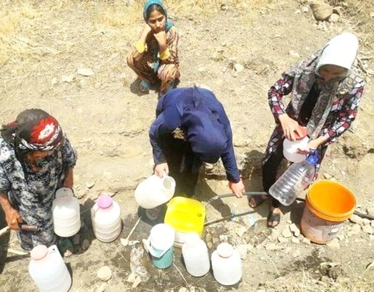 بی آبی روستاهای محمودوند در جدال با گرمای ۴۰ درجه و کرونا