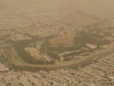آلودگی هوا ۵ برابر بیشتر از حد مجاز!!