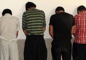 دستگیری باند ۴ نفره سرقت در شهر ستان کوهدشت