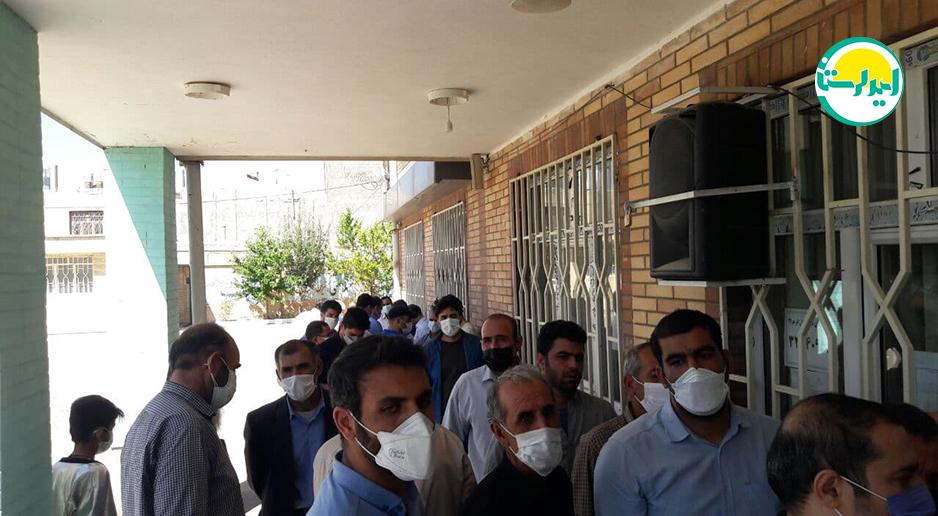5 4   حضور پرشور مردم شهرستان دلفان در پای صندوق های رای   امید لرستان