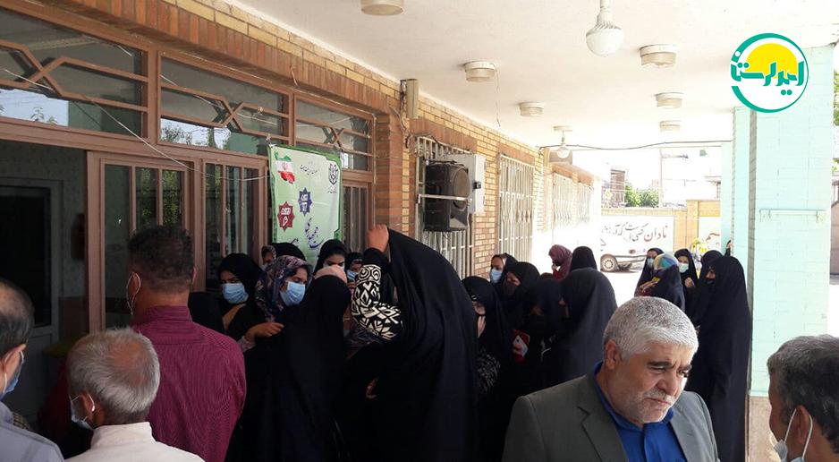 6 4   حضور پرشور مردم شهرستان دلفان در پای صندوق های رای   امید لرستان