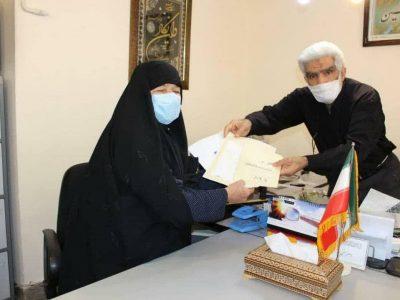 اهداء سند مالکیت دوباب مغازه تجاری به صحن حضرت زهرا سلام الله در نجف+تصاویر