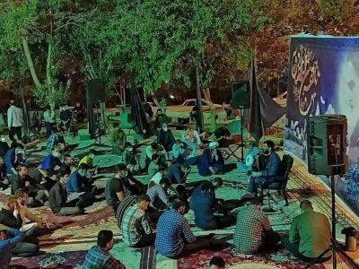 برگزاری مراسم شب رحلت امام خمینی ره در هیئت شهدای گمنام خرم آباد+ تصاویر